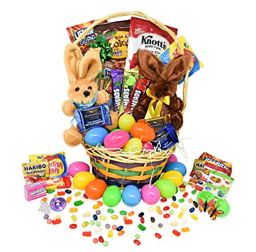 (Easter Gift Basket -Toys Filled Easter Eggs hunt, Chocolate and Candy, Snacks, Toys - Easter Basket Delivered Special for Kids, Girls, Boys, Teens - (69)