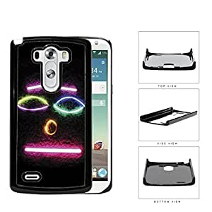 Smiley Face Emoji In Neon Colors Hard Plastic Snap On Cell Phone Case LG G3 by ruishername