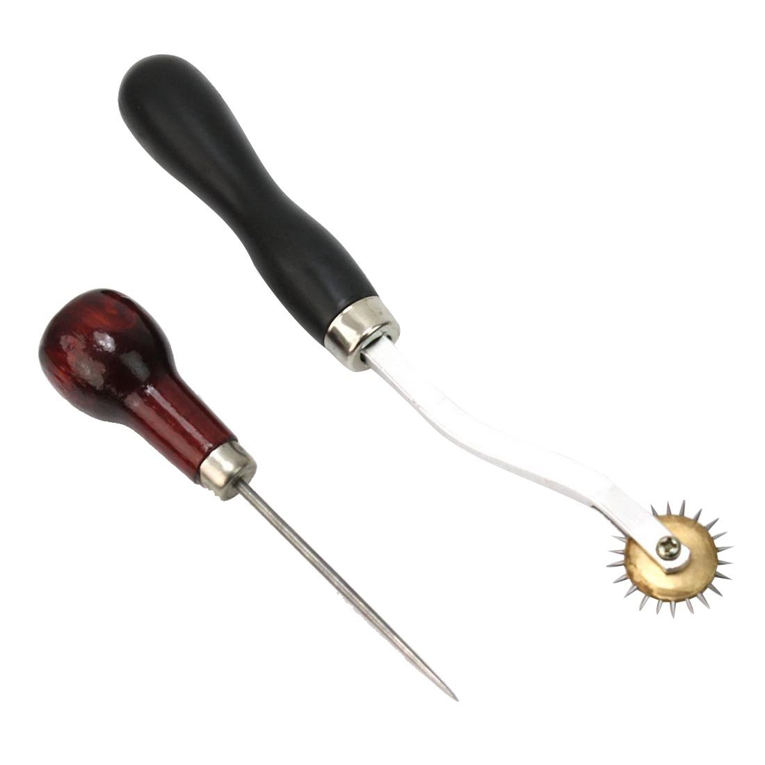 SODIAL Useful Leather Cloth Overstitch Awl Tool Pin Sewing Punching Hole Maker 4mm New