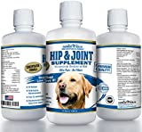 Paramount Pet Health CONCENTRATED Liquid Glucosamine For Dogs | PREMIUM All Natural Hip and Joint Supplement for Large Dogs Chondroitin MSM and Hyaluronic Acid | Large Dog Glucosamine