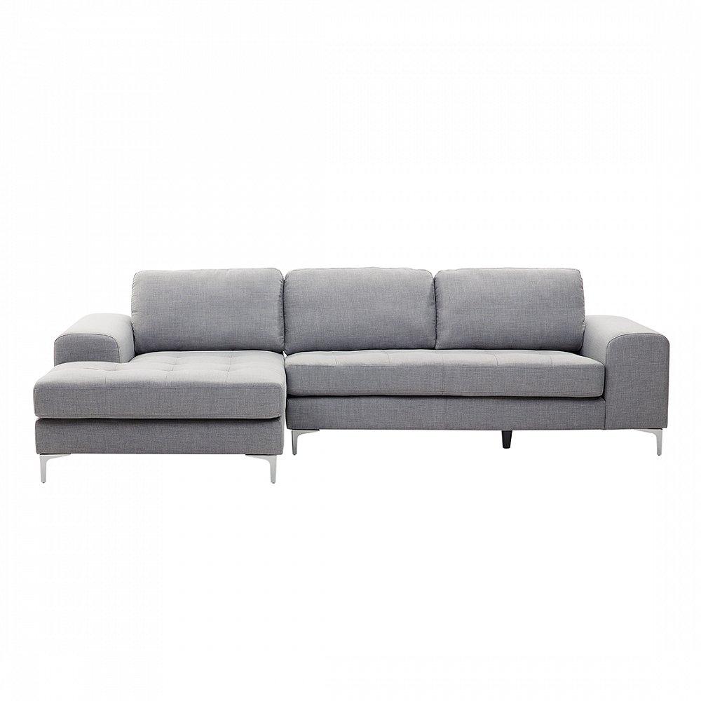 Sofa Hellgrau - Couch - Ecksofa - Sofalandschaft - Sofagarnitur - Stoffsofa - KIRUNA