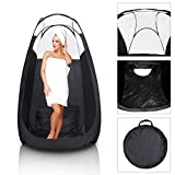 Koval Inc. Black Pop Up Airbrush Sunless Tanning Tent Booth Clear Top (Black)