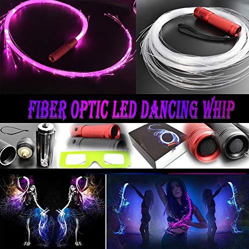 COMLZD Fiber Optic Dance Whip Light-up Led Lights Rave Party for Dancing Party Favor