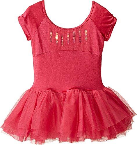 Bloch Girl's Heart Cut Out Cap Sleeve Dress 4-6 Pink