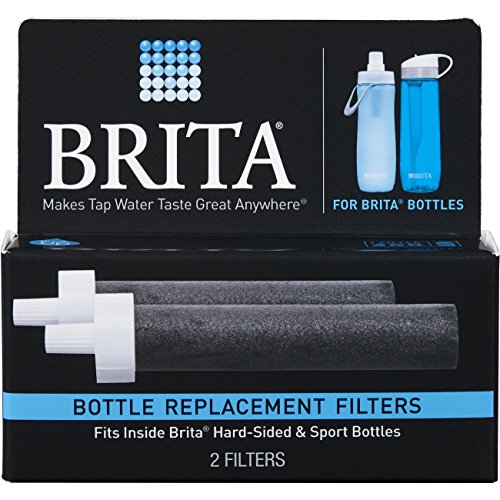 Brita Hard Sided Water Bottle Filter Brita Water Filter Bottle Replacement Filters, 2 Count ...