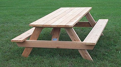 Awesome Western Red Cedar 84 Commercial Rectangular Top Picnic Gmtry Best Dining Table And Chair Ideas Images Gmtryco