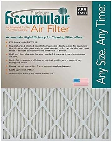 23.5 L x 29.5 W 6 Piece MERV 11 Accumulair Platinum 1 Filter