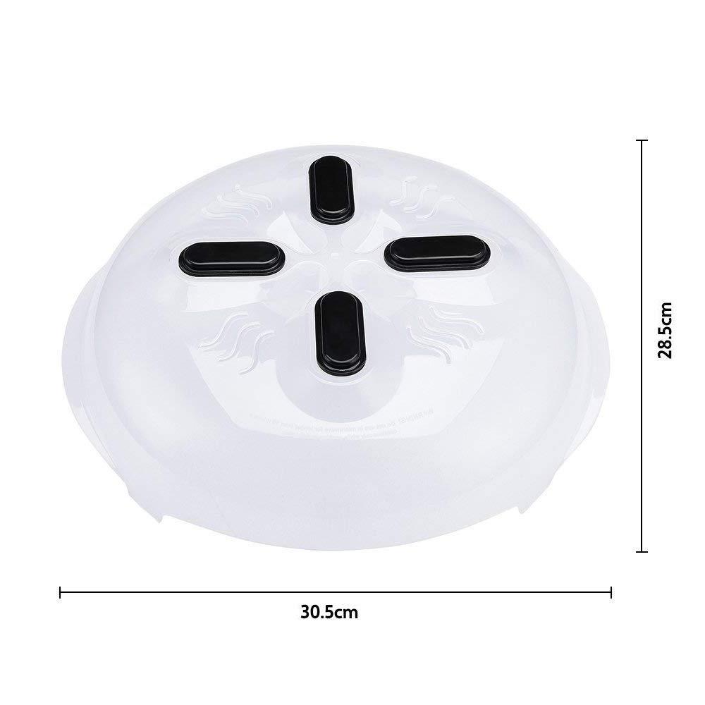 Tapa Protectora para Placa de microondas con ventilaci/ón de Vapor 11.8 Pulgadas FORD KING Cubierta magn/ética para Salpicaduras de microondas