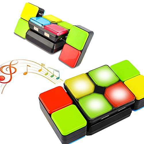 Electronic Handheld Puzzle Game Music Magic Cube for Kids, Adult Slide Puzzle Decompression Toys, Improve Memory and Reaction Brain Teaser for Boy Girls Birthday Gift