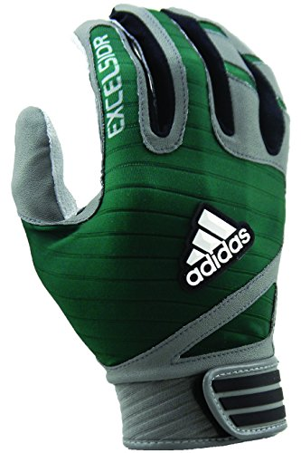 adidas Excelsior Batting Gloves (Pair), Gray/Forest, ()