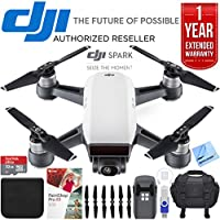 DJI Spark Alpine White Quadcopter Drone 32GB Essentials Bundle Spark Drone Essentials Bundle (Expedition Kit with Extended Warranty)