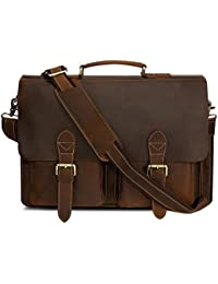 Kattee Handmade Genuine Leather Satchel Laptop Briefcase Messenger Bag - Buy it while supplies last