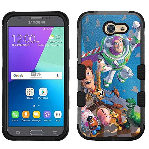 Amp Toy - for Samsung Galaxy J3 Emerge (2017)/Amp Prime 2, Hard+Rubber Dual Layer Hybrid Heavy-Duty Rugged Armor Cover Case - Toy Story #C