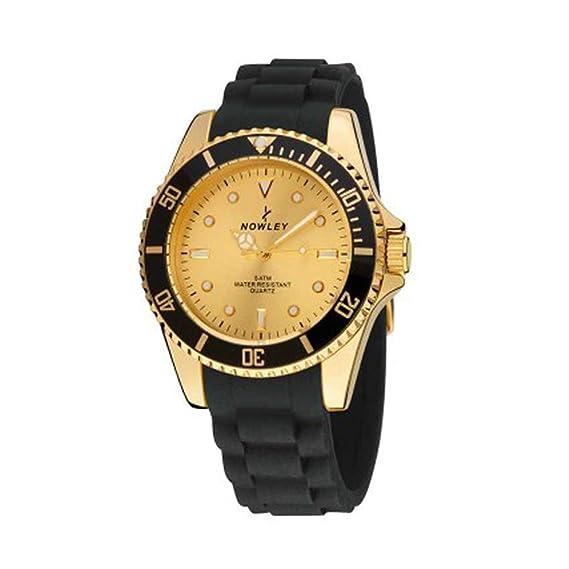 Reloj NOWLEY Caballero con Correa de Silicona Negro 8-5287-0-3: Amazon.es: Relojes