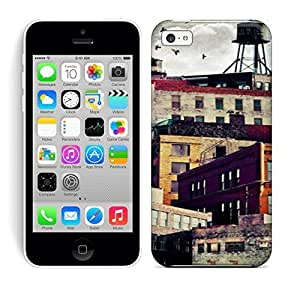 Best Power(Tm) HD Colorful Painted Watercolor High Rise Buildings Hard Phone Case For Iphone 5C