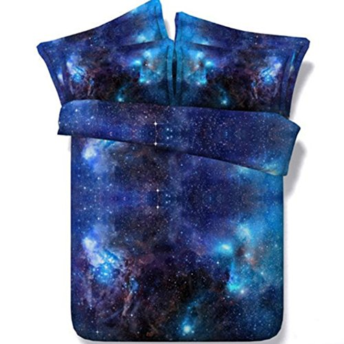 Alicemall 5 PCS Galaxy Comforter Set Queen Size Gorgeous Shi