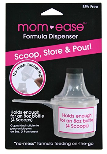 bamboobies mom-ease BPA Free Travel Baby Formula Dispenser, Scoop, and Funnel