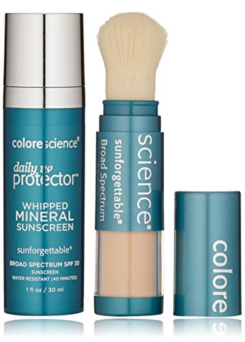 Colorescience Sunscreen Daily UV Essentials - Whipped Mineral Sunscreen and Brush-On Sunscreen Powder -