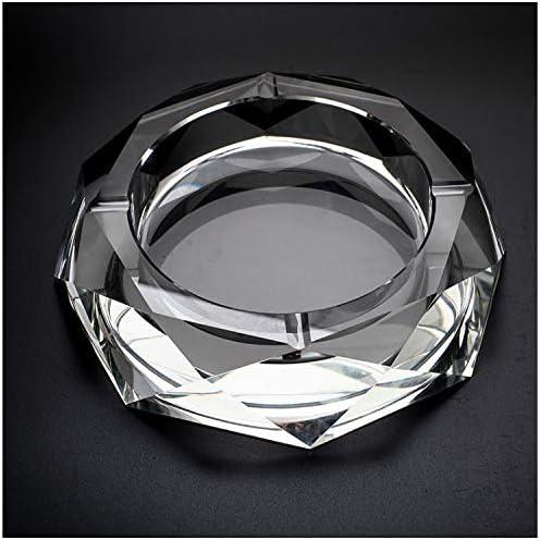 Cosy-YcY K9 Crystal Ashtray Elegant Ashtray for Table Octagonal Shape Highly Transparent Ashtray for Outdoor