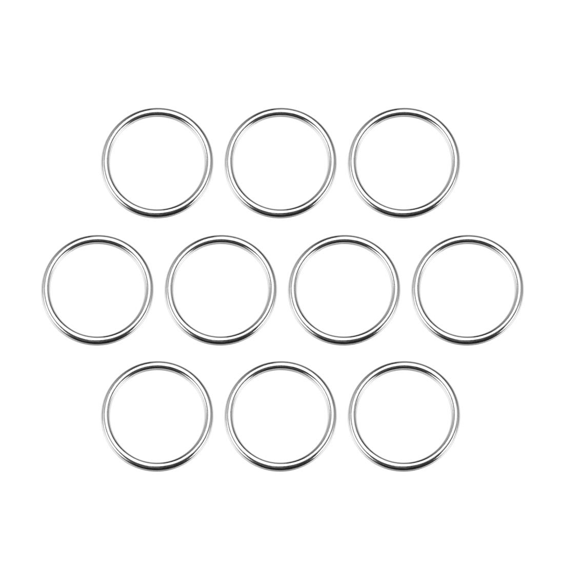 uxcell/® 10 Pcs O Ring Buckle 0.8 Inch Metal Circular O-Rings Black for Hardware Bags Belts Craft DIY Accessories