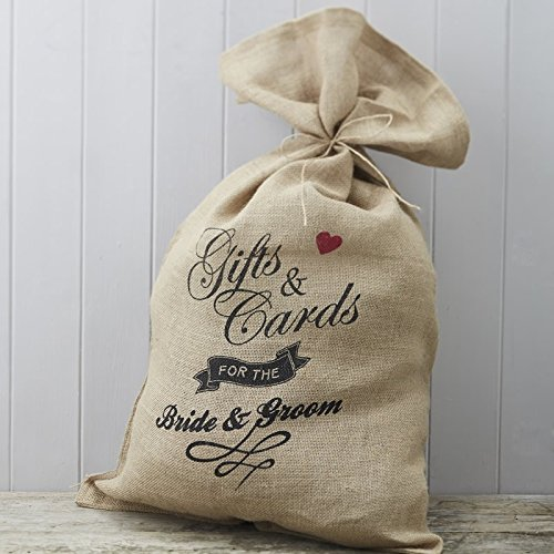 - Ginger Ray AF-653 Hessian Burlap Mrs Wedding Card Postbox Sack