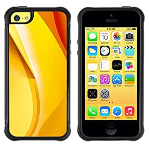 Suave TPU Caso Carcasa de Caucho Funda para Apple Iphone 5C / gold yellow orange red banana abstract / STRONG