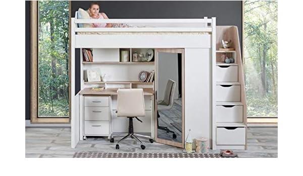 Alfemo Compact Room Cama Alta Infantil Colchón sin colchón: Amazon.es: Juguetes y juegos