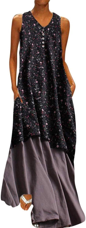 Reooly Vestido de Verano Vestido de Moda para Mujer con Estampado ...