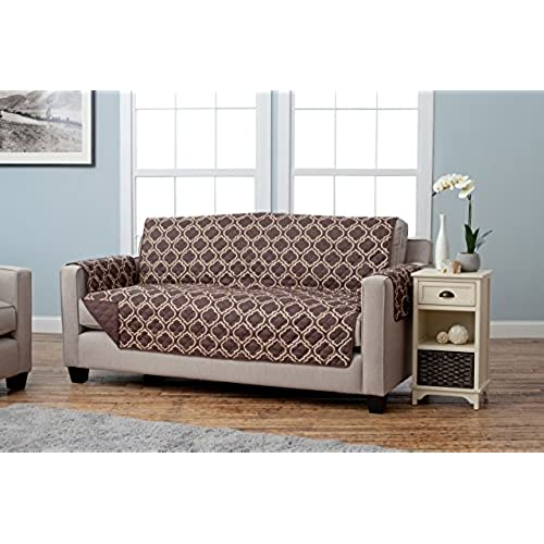 ... Reversible Quilted Furniture Protector. Beautiful Print On One Side /  Solid Color On The Other For Two Fresh Looks. By Home Fashion Designs  Brand. (Sofa ...