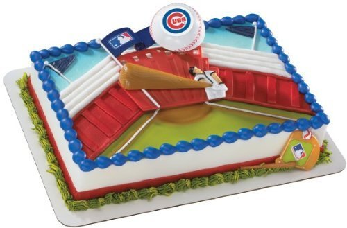 MLB Home Run Chicago Cubs Decoset ~ Cake Topper ()