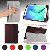 "Samsung Galaxy Tab A 9.7"" Case - e-PlanetPro Premium PU Leather Folio Stand Cover for Samsung Galaxy Tab A 9.7"" (Wi-Fi, 3G/4G/LTE all models) with Sleep/Wake Up function and additional Features. BROWN"