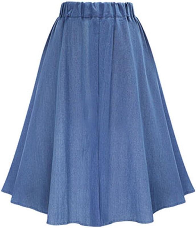 Guiran Mujer Faldas Vaquera Midi Elegantes Cintura Alta Vintage ...