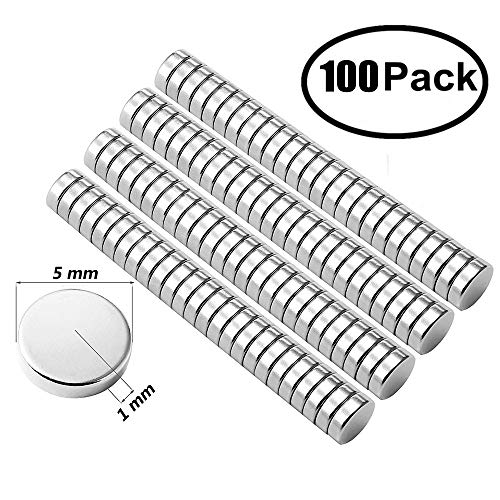 - Small Multi-Use Refrigerator Magnets Round Refrigerator Magnets, 5X1MM Small Cylinder Magnets for Fridge, Kitchen, Home, Office, School, Science, Crafts(100PCS) (100)