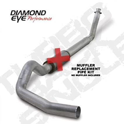 "Kit 5"" Turbo-Back Muffler Replacement Pipe Single; 409 Stainless ..."