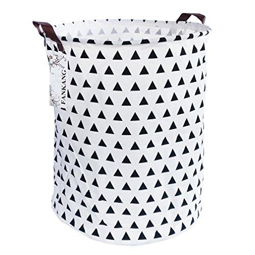 FANKANG Large Laundry Basket Hamper Storage Bin Collapsible Triangle Deal (Large Image)