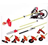 GOWE Lawn mower Backpack 52cc Long Reach Pole Chainsaw, Petrol Chain Saw Brush Cutter Pruner tree