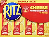 Nabisco, Ritz, Cracker Sandwiches with Cheese, Family Size, 16 Count, 21.6oz Box (Pack of 3)