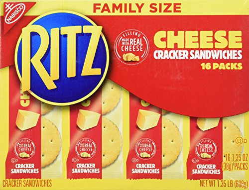 Nabisco, Ritz, Cracker Sandwiches with Cheese, Family Size, 16 Count, 21.6oz Box (Pack of (Ritz Sandwich)