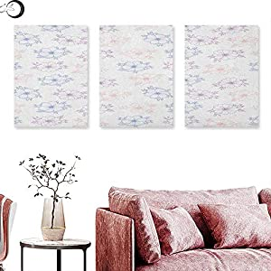 J Chief Sky Anemone Flower Living Room Home Office Decorations Bridal Corsage Design Garden Bedding Plants in Soft Colors Wall Painting Dried Rose Salmon Slate Blue 57