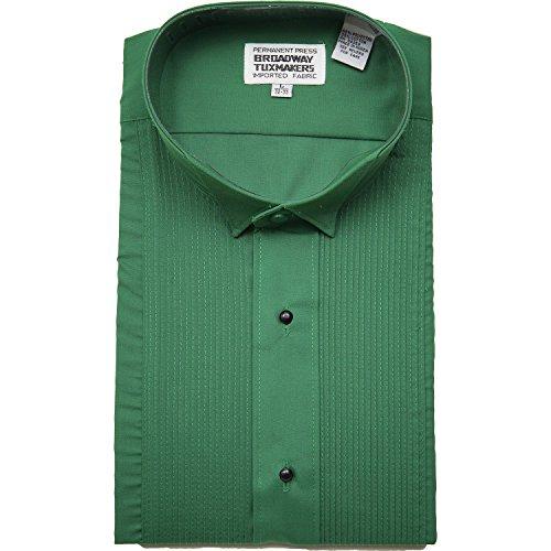 (Mens Jade Green Tuxedo Shirt By Broadway Tuxmakers (small 32/33) )