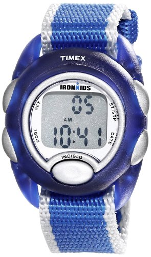 Timex Digital Youth Watch - Ironkids Digital | Blue Case with Blue & Gray Strap