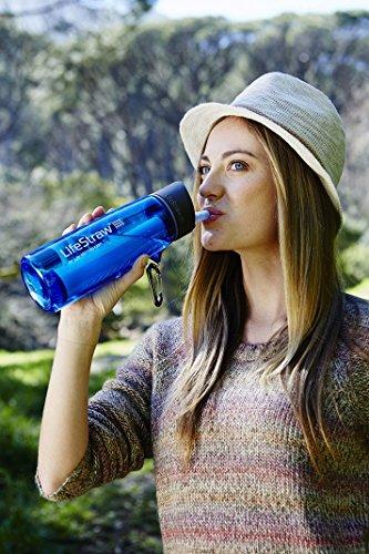 LifeStraw Go Wasserfilterflasche mit integriertem Filter. Entfernt Bakterien und Protozoen. Ideal für Wandern…