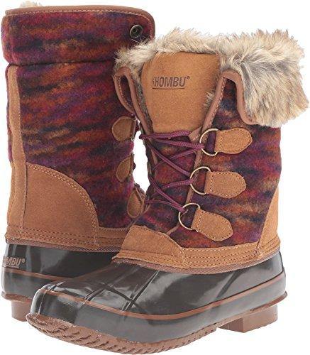 Khombu Women's JULLIARD Snow Boot, Brown, 6 M ()