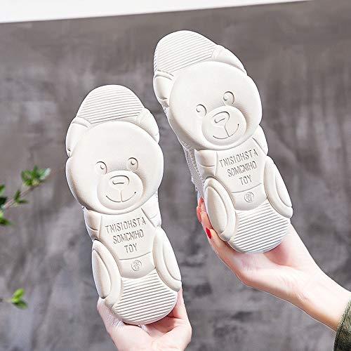 Zapatos Los De Absorción Zhijinli Salvaje Deporte 6 Lleve 7size Tamaño Ayudar Para Pequeños A Blancos Fitness Altas Choque Zapatillas PHgxq1g5w