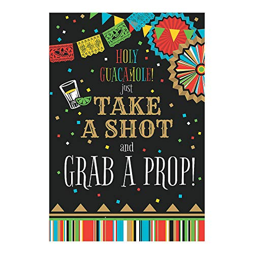 Fun Express - Fiesta Photo Sign Take A Shot Grab Prop for Cinco de Mayo - Party Decor - General Decor - Misc General Decor - Cinco de Mayo - 1 Piece ()