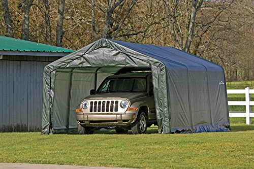 In A Box 12x20x8 Garage : Shelterlogic replacement cover kit peak green
