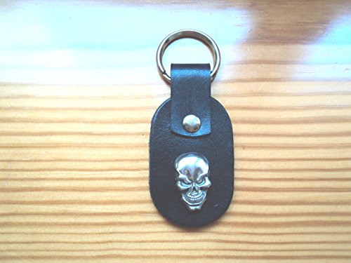 [Leather keychain with Concho/skull/Celtic/biker/] (Biker Concho)