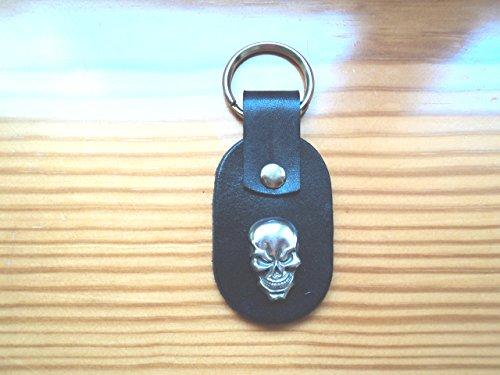Leather keychain with Concho/skull/Celtic/biker/ (Biker Concho)