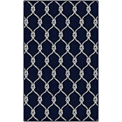 Brumlow Mills EW10033-40x60 Nautical Rope Trellis Navy Area Rug, 3'4 x 5'