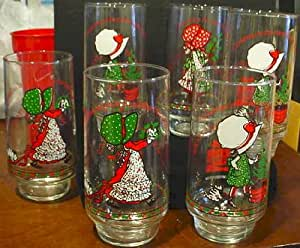 6 Vintage HOLLY HOBBIE Limited Edition GLASSES from Coca Cola